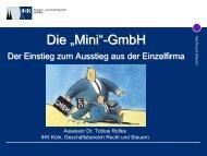 "Die ""Mini""- GmbH GmbH - VNWI"