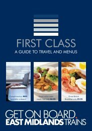 First class guide to travel menu