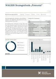 """WALSER Strategiefonds """"Potenzial"""" - Walser Raiffeisenbank"""