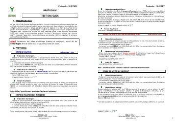 Protocole test tas elisa 200 l puits sediag for Sedia g