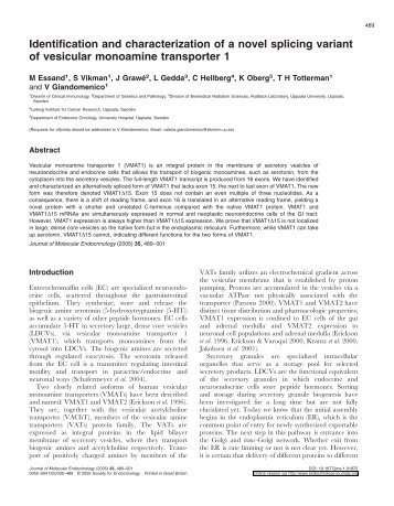 Identification and characterization of a novel splicing variant of ...