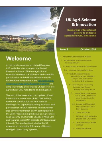 UK Agri-Science and Innovation Newsletter Issue 3