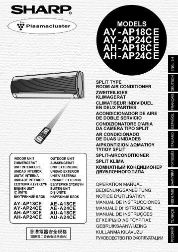 AY/AH/AE/AU-A/AP-18/24CE Operation-Manual TR - Ä°klim Plus Klima