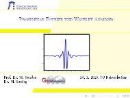 Proseminar Fourier und Wavelet Analysis