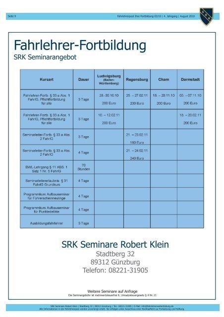 Widerruf der Fahrlehrerlaubnis ab Seite 3 - Klein, Robert