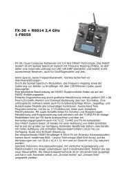 FX-30 + R6014 2,4 GHz 1-F8050 - Riedl Electronic