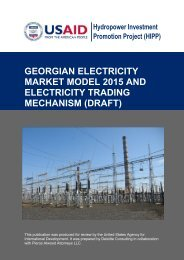 georgian electricity market model 2015 and electricity trading
