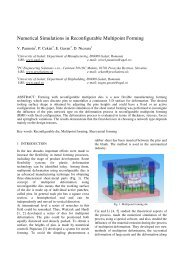 Numerical Simulations in Reconfigurable Multipoint Forming