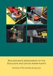 Nuclear Waste Management of the Olkiluoto and Loviisa ... - Posiva