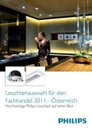 Leuchtenauswahl für den Fachhandel 2011 ... - Philips Lighting