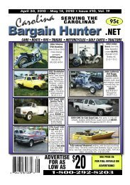 how to advertise - Carolina Bargain Hunter