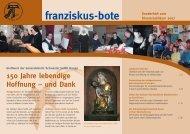 Sonderausgabe franziskus-bote zum Klosterjubiläum 2007