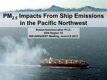 PM Impacts From Ship Emissions in the Pacific Northwest