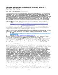 Facility Use Agreement - College of Engineering - University of ...