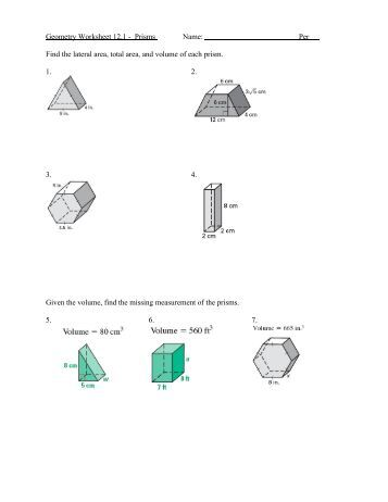 Geometry 8-2 Worksheet Find the area of each trapezoid