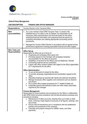 Job description office assistant school junior - Office manager assistant job description ...