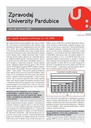 Zpravodaj číslo 40 březen 2005 - Dokumenty - Univerzita Pardubice