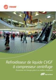 Refroidisseur de liquide CVGF à compresseur centrifuge