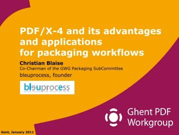PDF/X-4 and its advantages and applications for packaging workflows