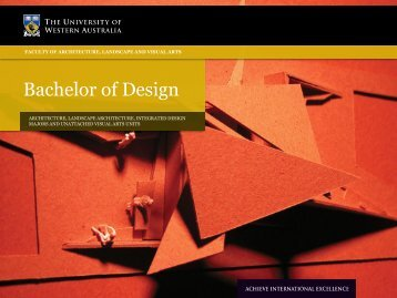 Bachelor of Design - Faculty of Education - The University of ...