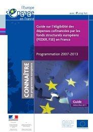 Programmation 2007-2013 - L'Europe s'engage en Ile-de-France