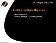 Evolution in Digital Magazines - WoodWing Community Site