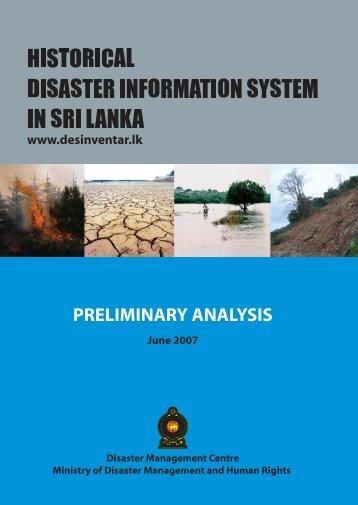 Preliminary Analysis Report [PDF 2.94 MB] - PreventionWeb