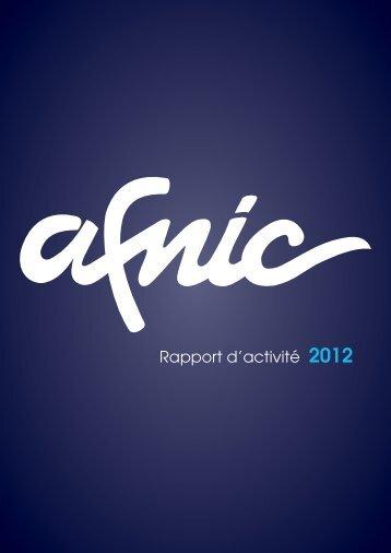 Découvrez le rapport d'activité 2012 de l'Afnic