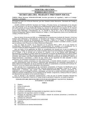 NOM-030-STPS-2009 - Normas Oficiales Mexicanas de Seguridad y ...
