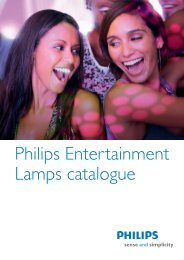 Philips Entertainment Lamps catalogue