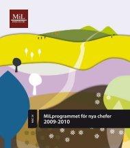 MiLprogrammet för nya chefer 2009-2010 - MiL Institute