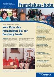 franziskus-bote April 2007 - Stiftung St. Franziskus Heiligenbronn
