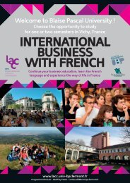 INTERNATIONAL BUSINESS WITH FRENCH