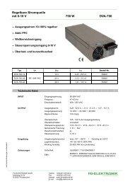 Regelbare Stromquelle mit 0-10 V 750 W DVA-750 - FG-Elektronik ...
