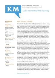 Kultur und Management im Dialog - Max Krieger Kulturmanagement ...