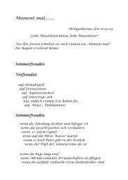 Moment mal........ - Stiftung St. Franziskus Heiligenbronn