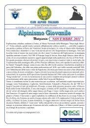 Novembre 2011(rev 01).indd - CAI - sezione di Sesto San Giovanni