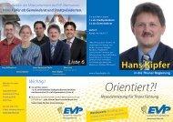 Mein persönlicher Flyer als Gemeinderat und Stapi ... - Hans Kipfer