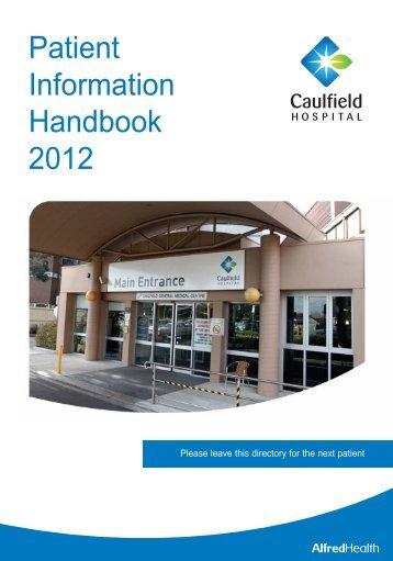 Patient Information Handbook 2012 - Alfred Hospital