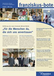 franziskus-bote März 2012 (PDF 1,3 MB - Stiftung St. Franziskus ...