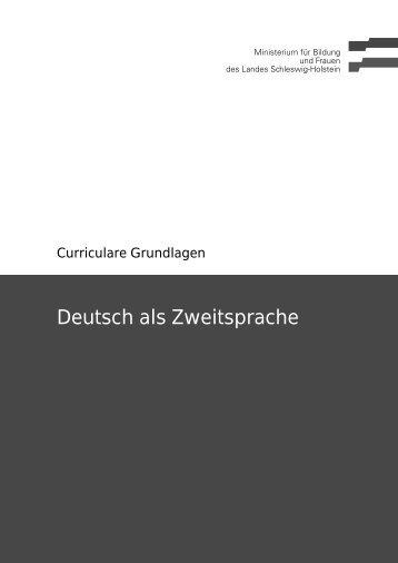 Deutsch als Zweitsprache - Schleswig-Holstein