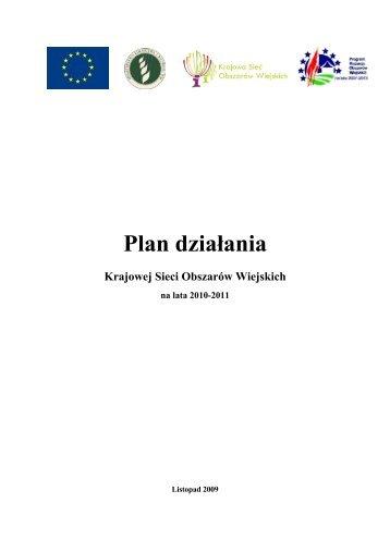 Plan działania Krajowej Sieci Obszarów Wiejskich - KSOW