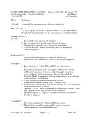 Bookkeeper Job Description-Current 4_08 - Westminster ...