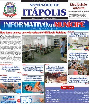 SEMANÁRIO DE - Prefeitura Municipal de Itápolis