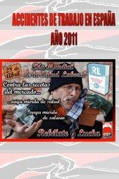 Accidentes de trabajo en España 2011