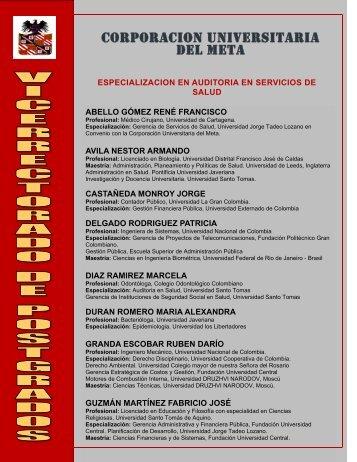 CORPORACION UNIVERSITARIA DEL META - Corporación ...