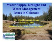 Water Supply, Drought and Water Management Issues in Colorado