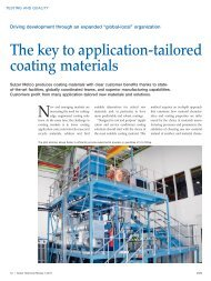 The key to application-tailored coating materials