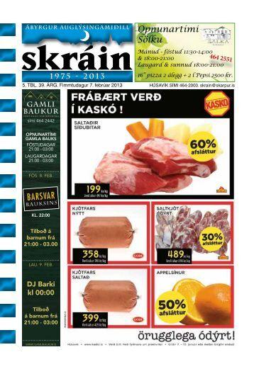 Skráin 5 . tbl. - 7. febrúar 2013 - Skarpur.is
