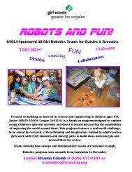 Robots and Fun! Teams (Daisies & Brownies)